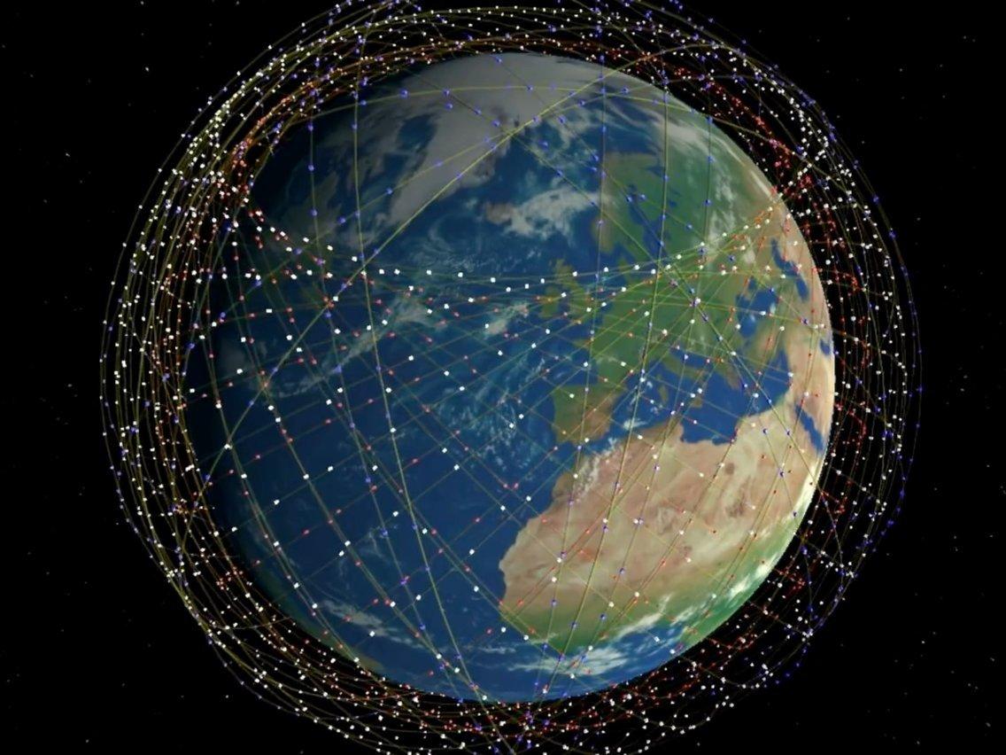 Starlink Satellites Orbiting Earth