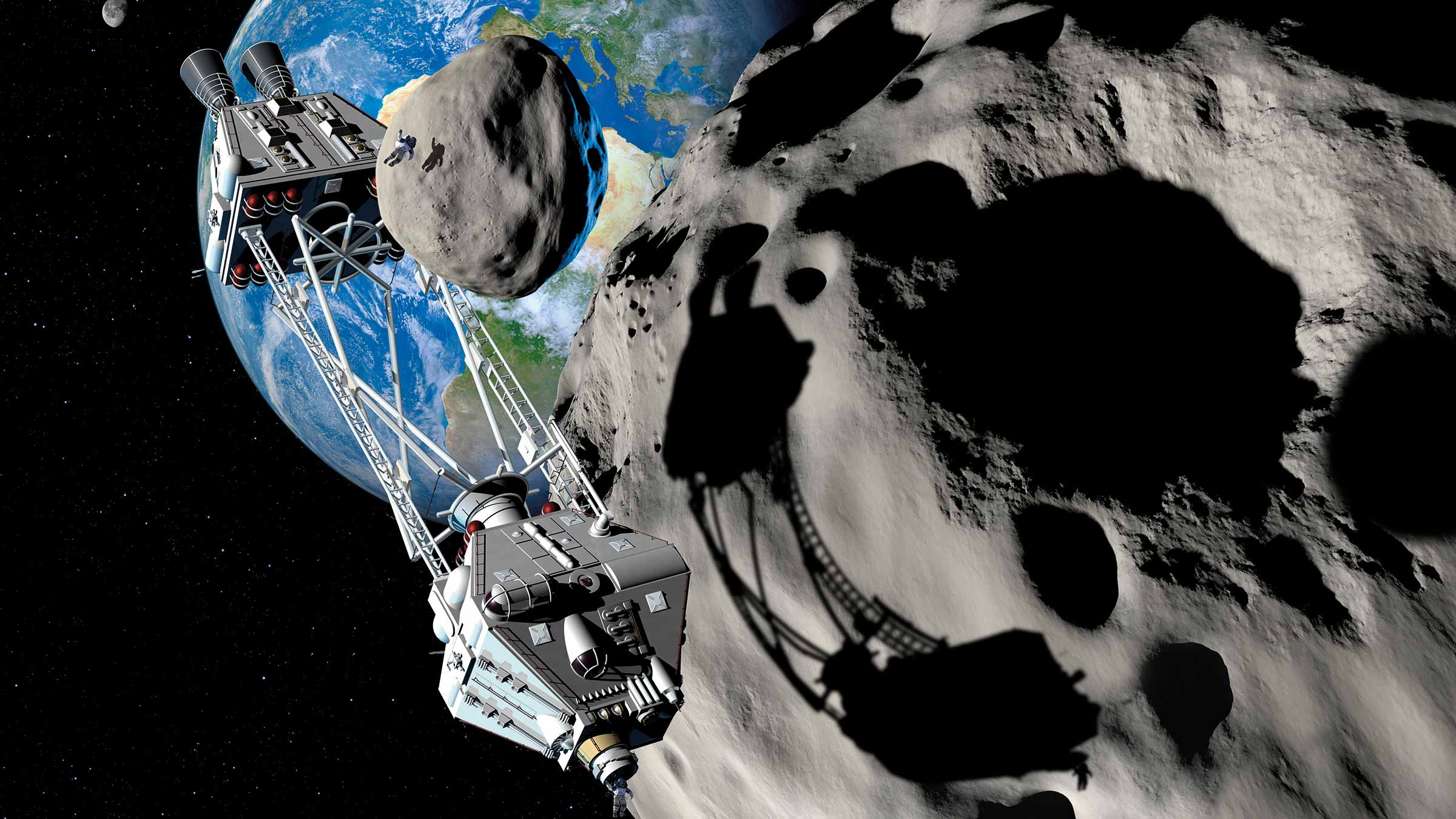 Can Asteroids be Mined for Space Mining?